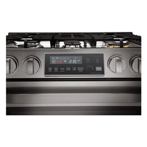 LG 30-in 6.3 cu ft Slide In Gas Range with Self-cleaning Convection Oven (Black Stainless Steel)