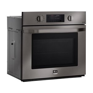 LG Studio LG Studio Self-Cleaning Convection Single Electric Wall Oven (Black Stainless Steel) (Common: 30 -in; Actual: 29.75-in)