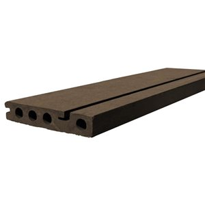 Leadvision (Common: 2-in x 12-in x 48-in; Actual: 0.875 x 5.4 x 144.0) ELEGANCE PLUS Composite Deck Stair Tread