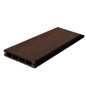 Leadvision ELEGANCE PLUS 12-ft Chocolate Grooved Composite Deck Board