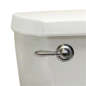 8-in L. Korky Universal Brushed Nickel Toilet Lever/Handle - Front/Side/Neo-angle