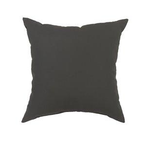 Garden Treasures Solid Grey Polyester Cushion