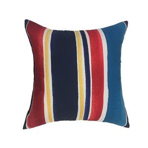 Garden Treasures Watercolor Stripe Polyester Cushion