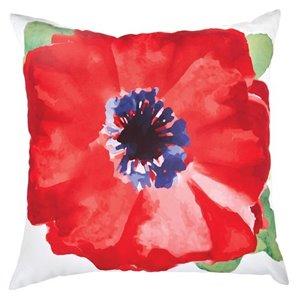 Garden Treasures 16-in Watercolor Bloom Polyester Toss Pillow