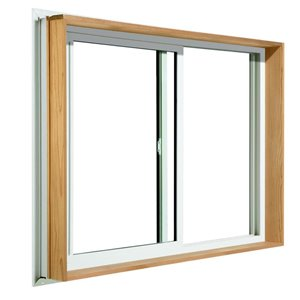 JELD-WEN 24-in x 24-in Wood Buck Low-E Argon Double Pane Vinyl Sliding Window