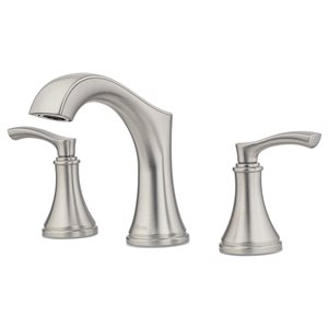 Pfister Auden Spot Defense Brushed Nickel 2-Handle Widespread Bathroom Sink Faucet with Drain (Valve Included)