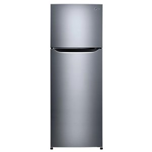 LG 24-in 11.1-cu ft Counter-Depth Top-Freezer Refrigerator with Ice Maker (Stainless Steel) ENERGY STAR