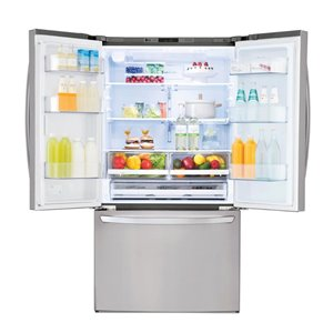 LG 36-in 22.8-cu ft French Door Counter-Depth Refrigerator with Ice Maker (Stainless Steel) ENERGY STAR