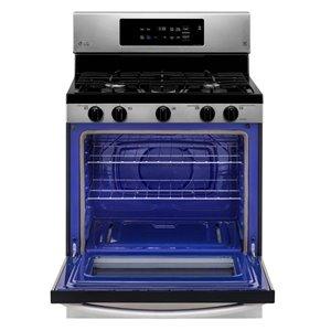 LG 30-in 5-Burner 5.4-cu ft Manual Cleaning Freestanding Gas Range (Stainless Steel)
