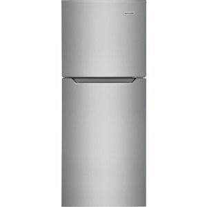 Frigidaire 11.6-cu ft Standard-Depth Top-Freezer Refrigerator (Fingerprint-Resistant Brushed Steel) ENERGY STAR