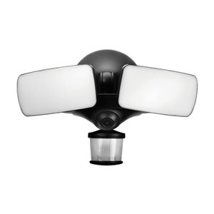 Maximus 270-Degree 2-Head Black Integrated LED Motion-Activated Flood Light