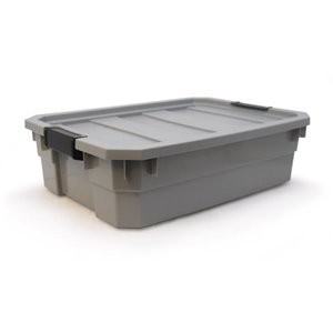 Blue Hawk 10-Gallon Gray Tote with Latching Lid