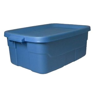 Centrex Plastics, LLC Rugged Tote 10-Gallon Blue Tote with Standard Snap Lid
