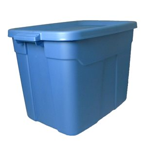 Centrex Plastics, LLC Rugged Tote 18-Gallon Blue Tote with Standard Snap Lid