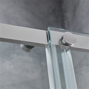 OVE Decors Venice 60-in Alcove Chrome Shower Door