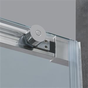 Ove Decors Venice 60 In Alcove Chrome Shower Door Lowe S