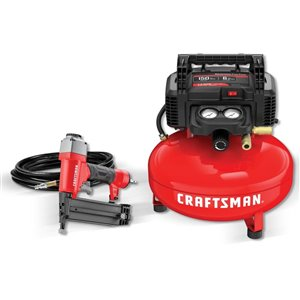Craftsman Air Compressor And Brad Nailer Combo Kit Lowe