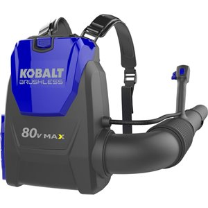 Kobalt 80-Volt MAX Lithium-Ion Heavy-Duty Cordless Backpack Leaf Blower (Tool Only)