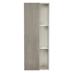 Cutler Kitchen & Bath 18-in W x 48-in H x 12-in D Light Gray Particleboard Bathroom Wall Cabinet