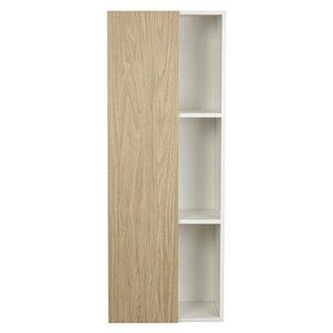 Cutler Kitchen & Bath 18-in W x 48-in H x 12-in D Beige Woodgrain Particleboard Bathroom Wall Cabinet