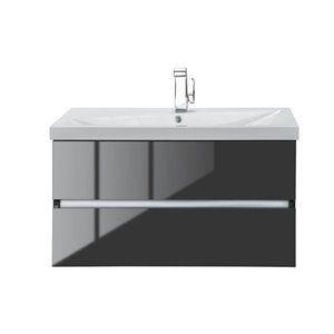 Cutler Kitchen & Bath 36-in Single Sink Dark Bathroom Vanity With Cultured Marble Top