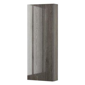 Cutler Kitchen & Bath 11.5-in W x 30-in H x 4.125-in D Fossil Oak Particleboard Bathroom Wall Cabinet