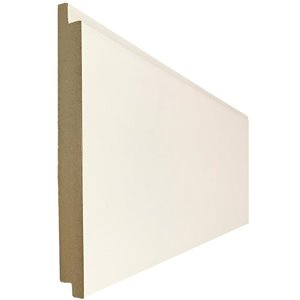 Metrie Complete 5.5-in x 8.0-ft White MDF Wall Plank