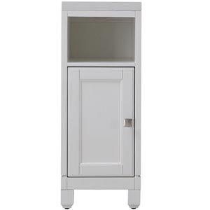 allen + roth 12.8-in W x 33-in H x 18.5-in D Alabaster Poplar Freestanding Linen Cabinet