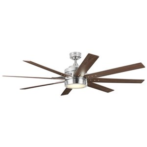 Harbor Breeze Birch Island 62 In Brushed Nickel Indoor Residential Ceiling Fan With Light Kit