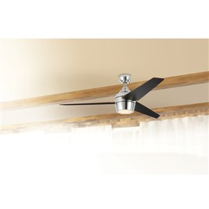 Harbor Breeze Otter Creek 52 In Brushed Nickel Indoor Residential Ceiling Fan With Light Kit