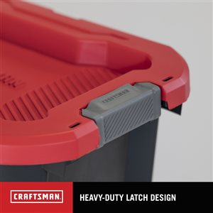 CRAFTSMAN 10 Gallon Latching Tote - 23.16-in x 15.66-in x 13.09-in