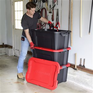 CRAFTSMAN 30 Gallon Latching Tote - 32.42-in x 21.92-in x 16.09-in