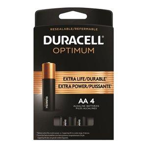Duracell Optimum AA Alkaline Batteries (4-Pack)