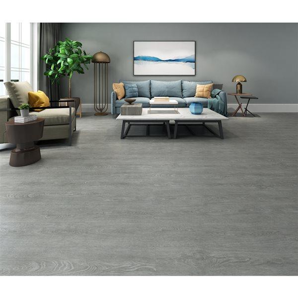 Oak Modern Grey Vinyl Plank Flooring, Grey Vinyl Plank Flooring Living Room