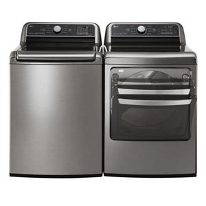 LG 5.8 cu ft High-Efficiency Top-Load Washer (Graphite Steel) ENERGY STAR