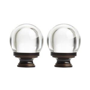 Umbra 2-Pack Bronze Acrylic Curtain Rod Finials