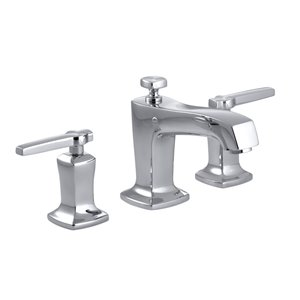 KOHLER Margaux Polished Chrome 2-Handle Widespread WaterSense Bathroom Sink Faucet with Drain
