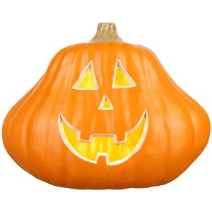 Gemmy (No Cinematic Universe) Lighted Usage Jack-O-Lantern  Constant Orange Incandescent Lights