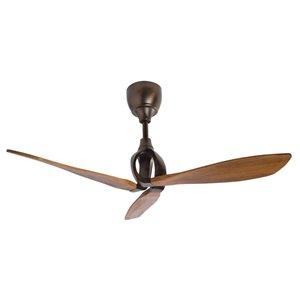 Kichler Lynk 54-in Oil Brushed Bronze 3-Blade Flush Mount Ceiling Fan