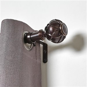 Umbra A+R 36-in to 72-in Bronze Steel Curved Curtain Rod