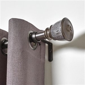 Umbra A+R 36-in to 72-in Pewter Steel Curved Curtain Rod