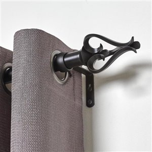 Umbra A+R 36-in to 72-in Black Steel Curved Curtain Rod