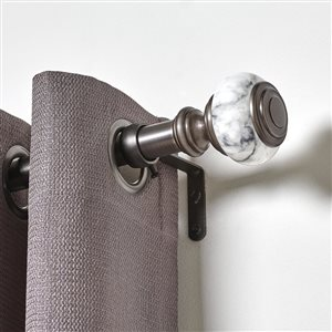 Umbra A+R 72-in to 144-in Pewter Steel Curved Curtain Rod
