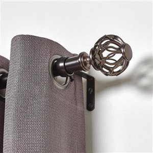 Umbra A+R 72-in to 144-in Bronze Steel Curved Curtain Rod