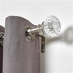 Umbra A+R 72-in to 144-in Nickel Steel Curved Curtain Rod