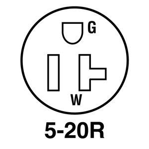 Legrand 20-Amp 125-Volt Black