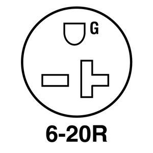 Legrand 20 Amp 250-Volt Black 3-Wire Grounding Plug