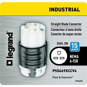 Legrand 20 Amp 250-Volt Yellow 3-Wire Grounding Connector