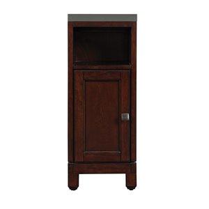 allen + roth Royal York 12.88-in W x 33-in H x 18.5-in D Coventry Cherry Poplar Freestanding Linen Cabinet