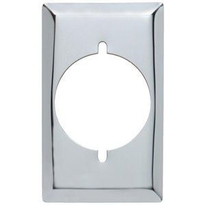 Pass & Seymour/Legrand 1-Gang Power Outlet Wall Plate (Stainless Steel)